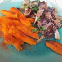 Bitter and sweet - my favourite way of eating sweet potato fries - a quick recipe